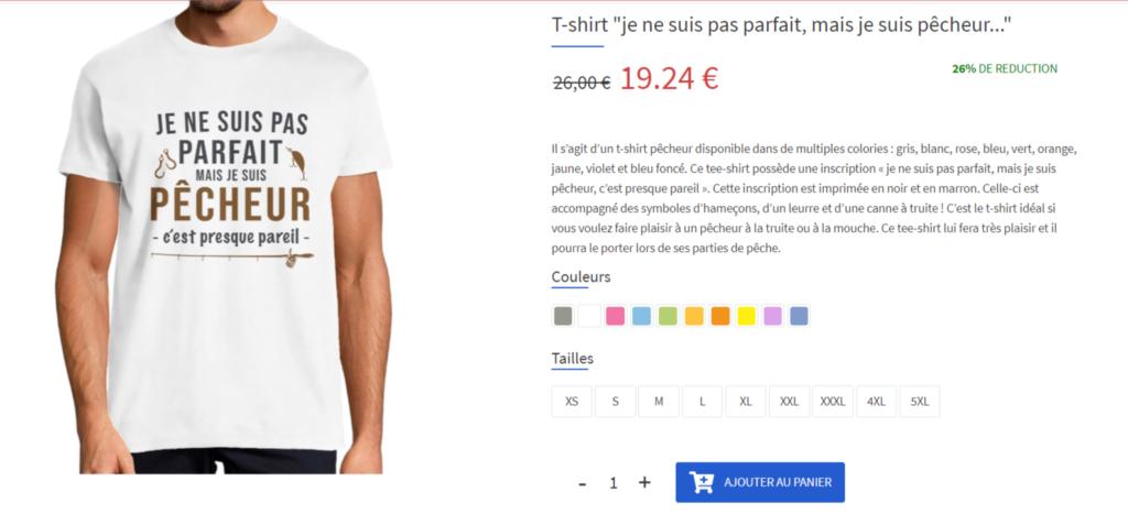 t shirt pecheur
